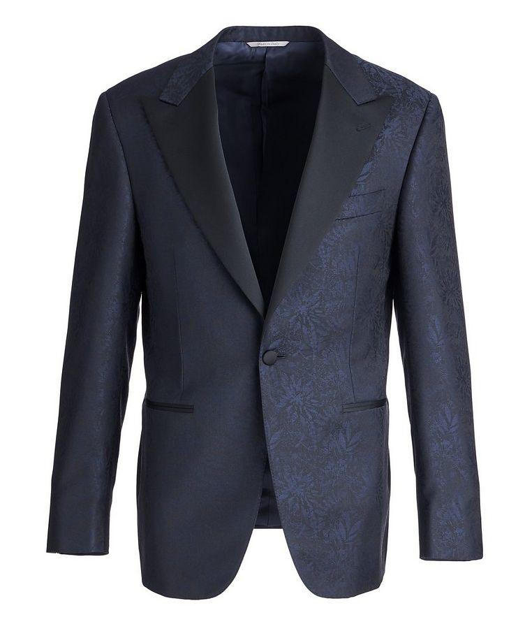 Botanical Peak Lapel Wool Tuxedo Jacket image 0