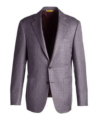 Canali Slim Fit Wool-Silk Sports Jacket
