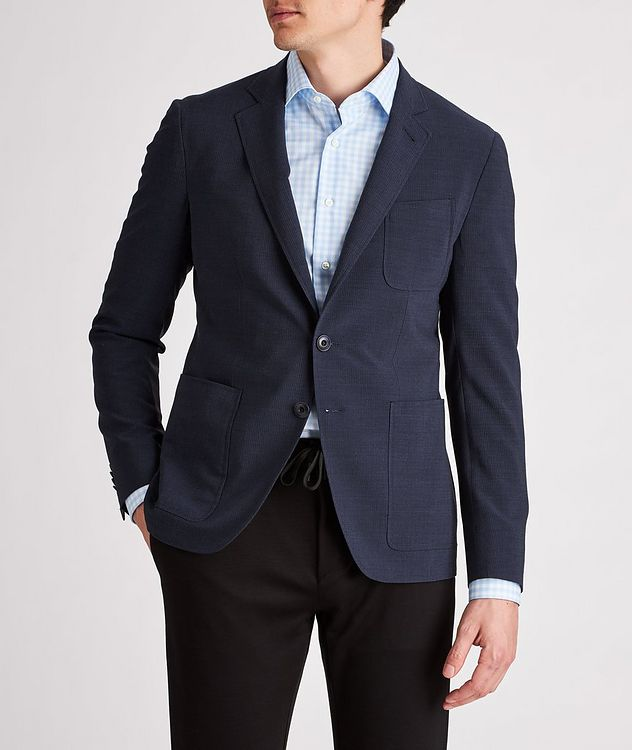 Striped Stretch-Wool-Blend Sports Jacket picture 2
