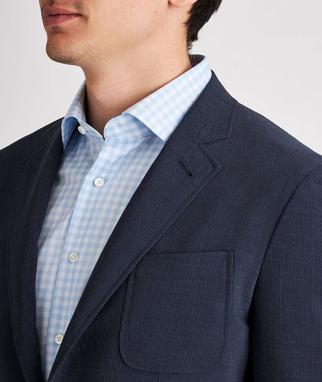 Striped Stretch-Wool-Blend Sports Jacket picture 4