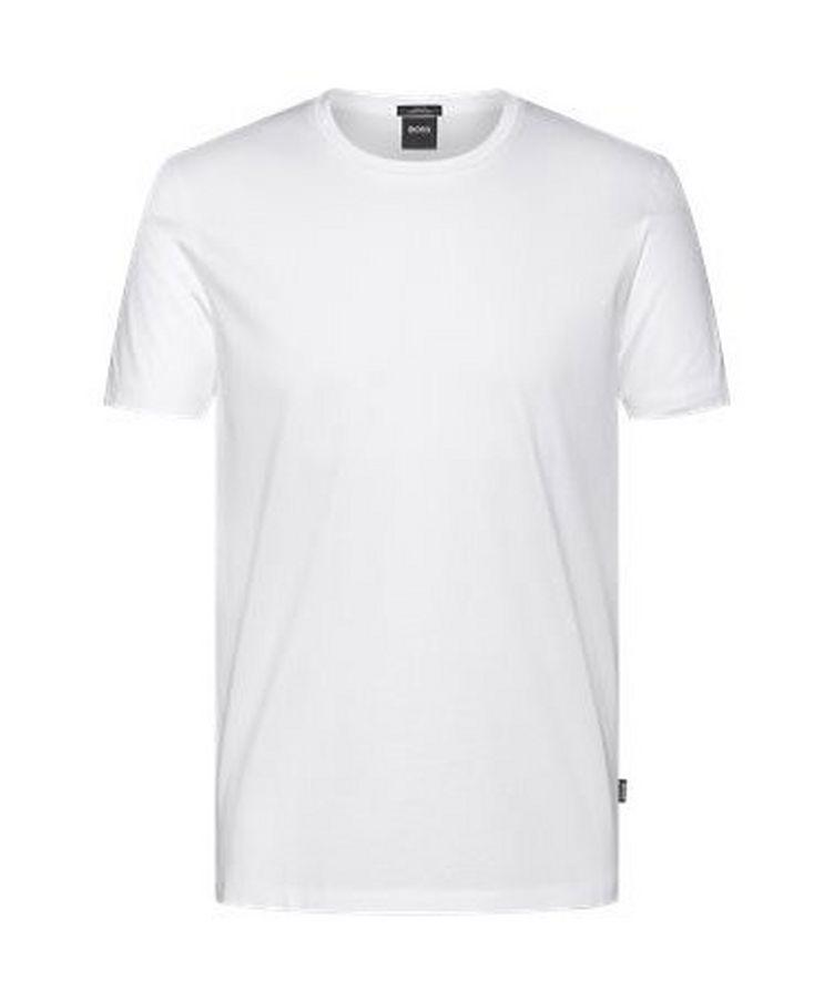 Mercerized Slim Fit Cotton T-Shirt image 0