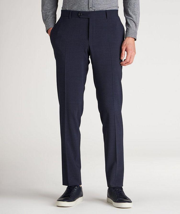Slim Fit Pin Cord Seersucker Stretch-Wool Dress Pants image 1
