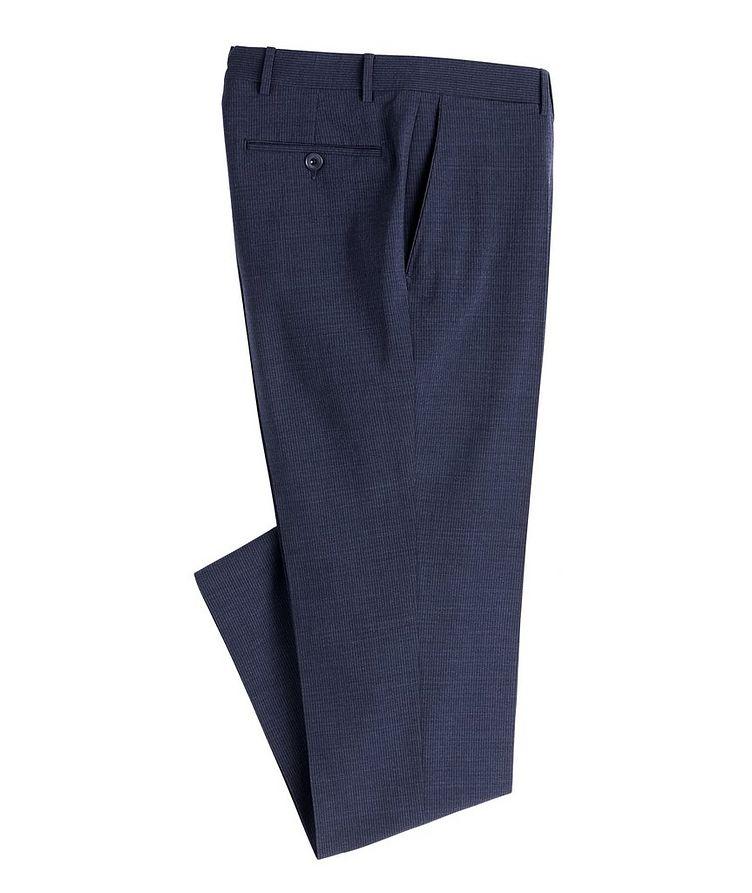 Slim Fit Pin Cord Seersucker Stretch-Wool Dress Pants image 0