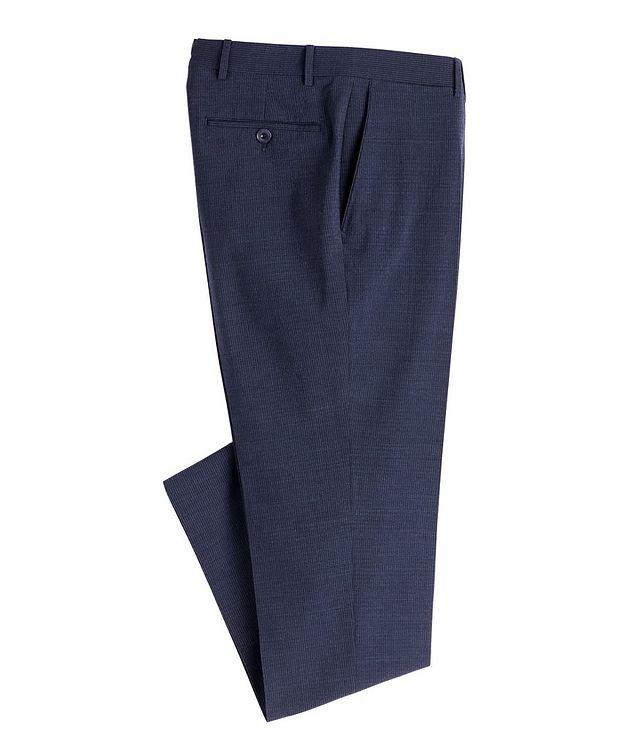 Slim Fit Pin Cord Seersucker Stretch-Wool Dress Pants picture 1