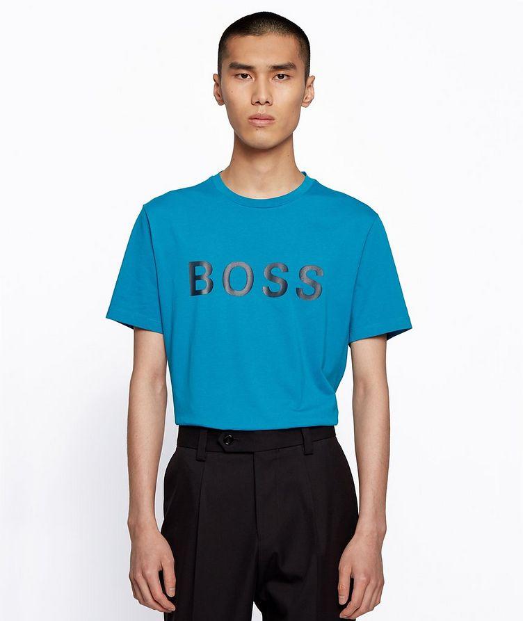 Single-Jersey Cotton Blend Logo T-Shirt image 1