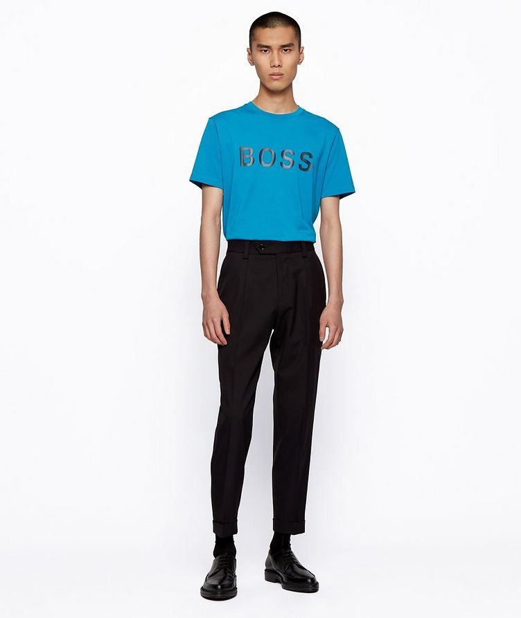 Single-Jersey Cotton Blend Logo T-Shirt image 3