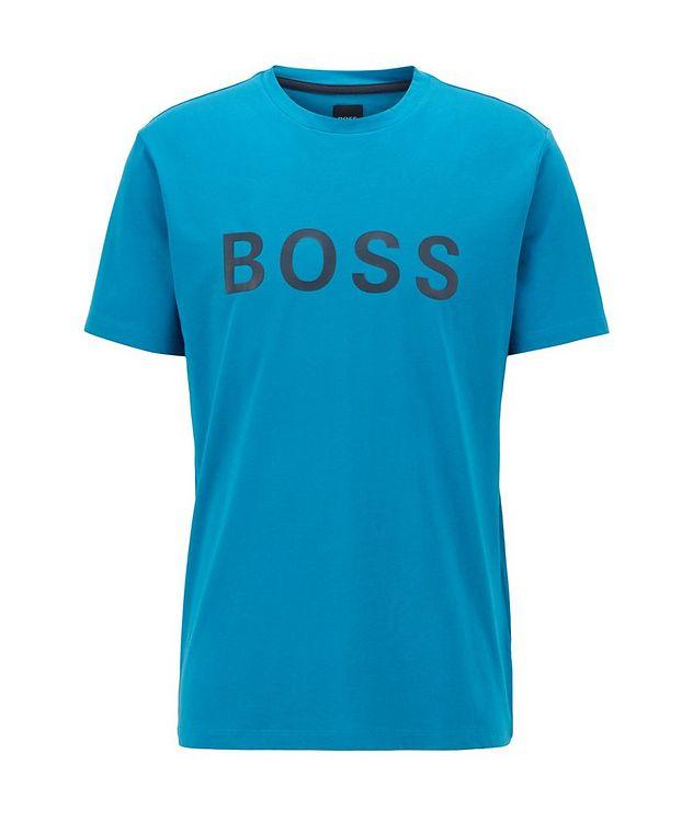 Single-Jersey Cotton Blend Logo T-Shirt picture 1