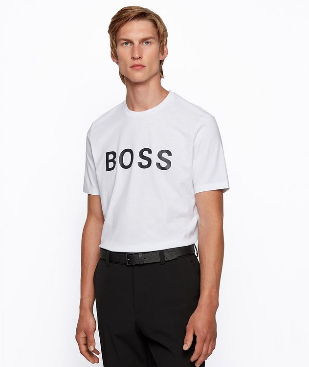 Single-Jersey Cotton Blend Logo T-Shirt picture 2
