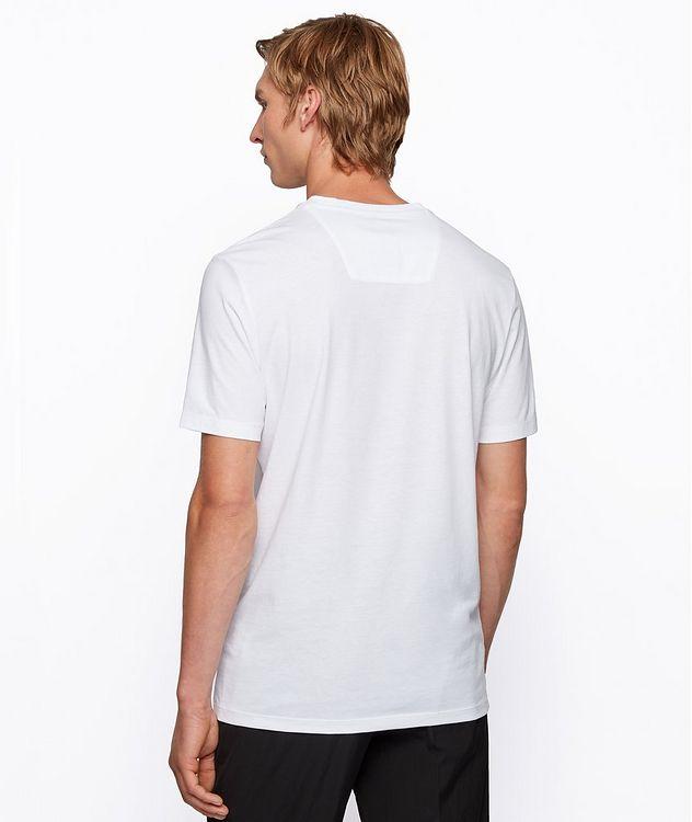Single-Jersey Cotton Blend Logo T-Shirt picture 3