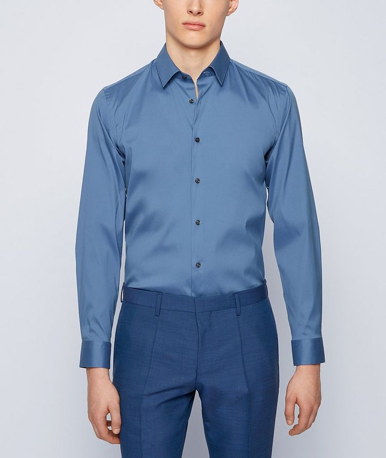 Slim-Fit Stretch-Cotton Dress Shirt image 1