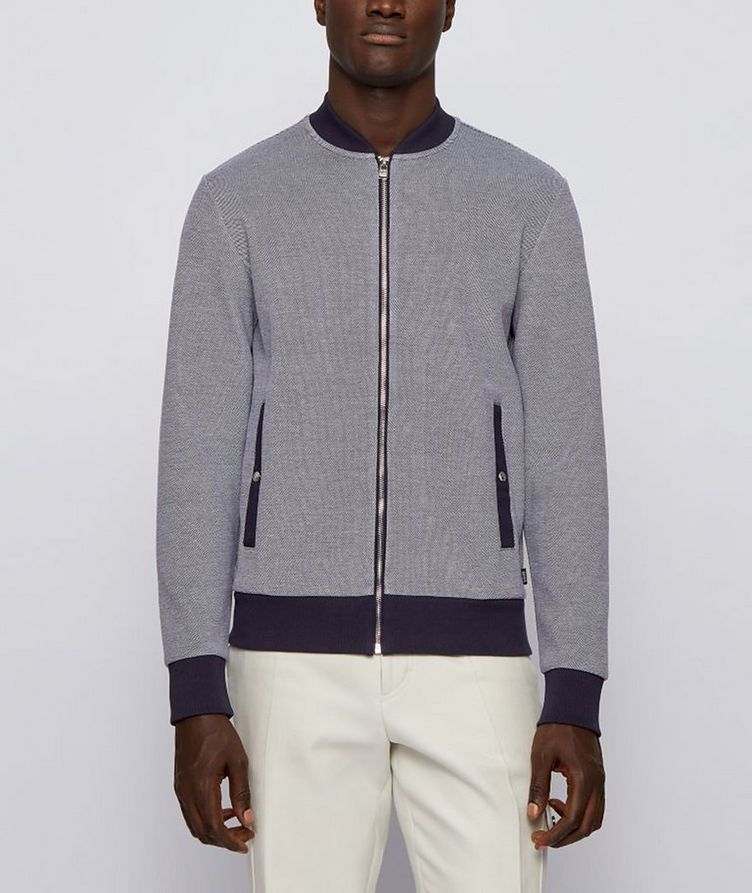 Skiles Double Knit Zip-Up Sweater image 1