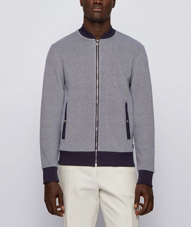 Skiles Double Knit Zip-Up Sweater picture 2