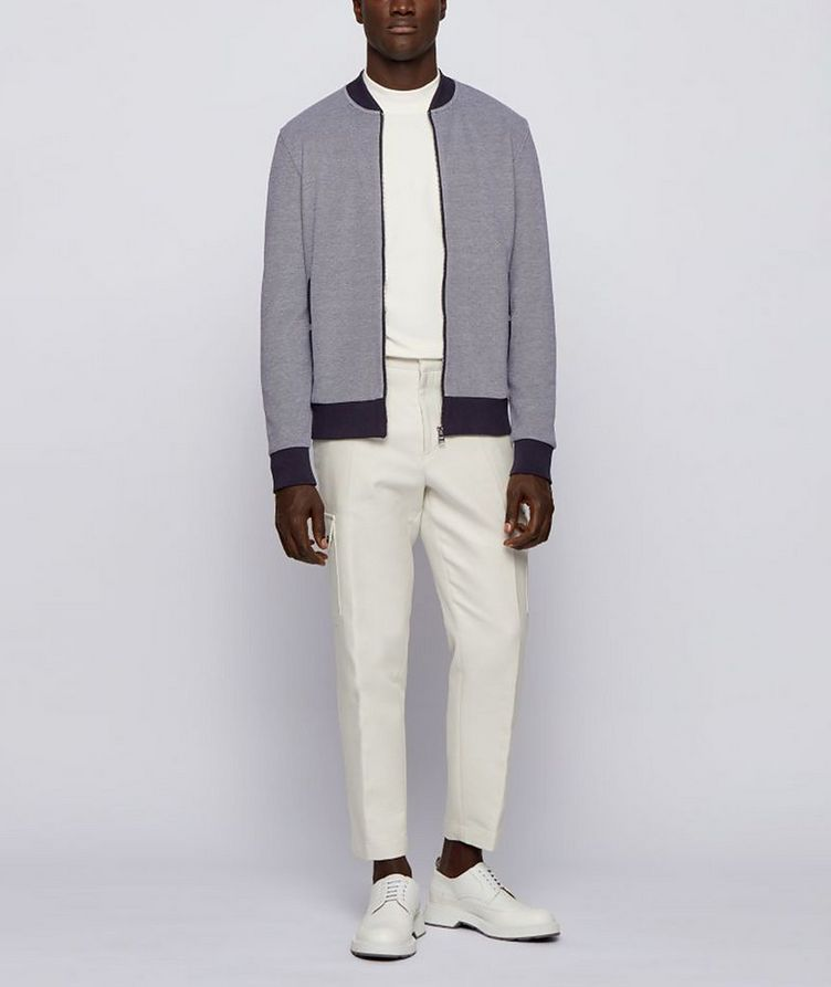 Skiles Double Knit Zip-Up Sweater image 3