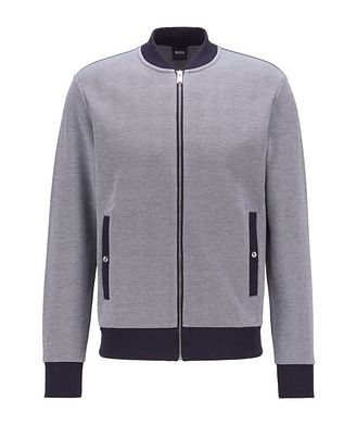 BOSS Skiles Double Knit Zip-Up Sweater