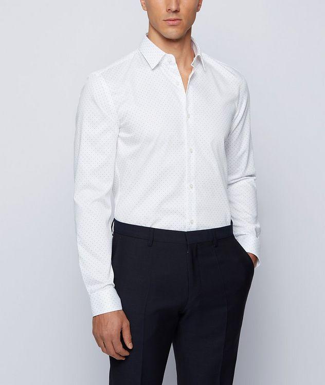 Slim-Fit Pindot Cotton Dress Shirt picture 2
