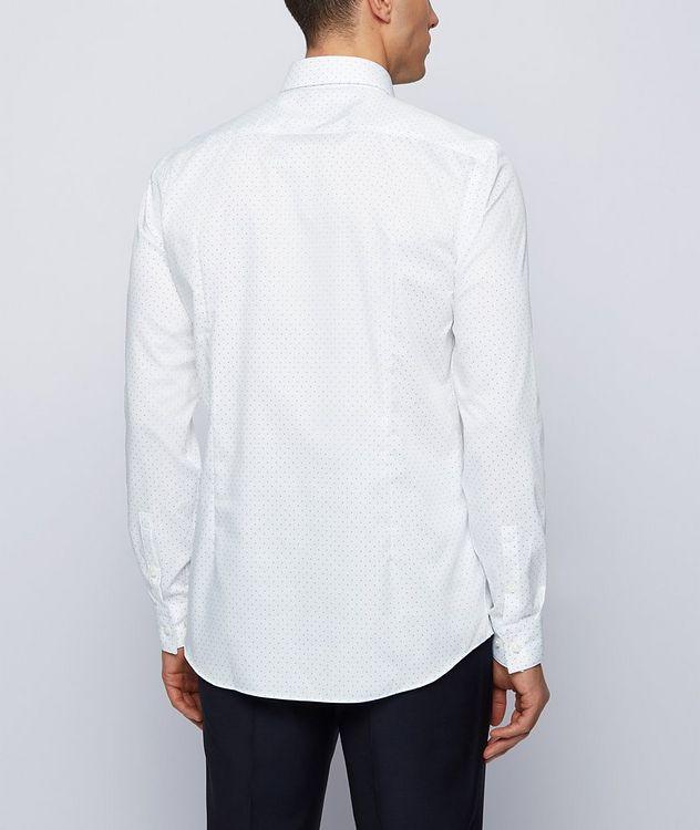Slim-Fit Pindot Cotton Dress Shirt picture 3