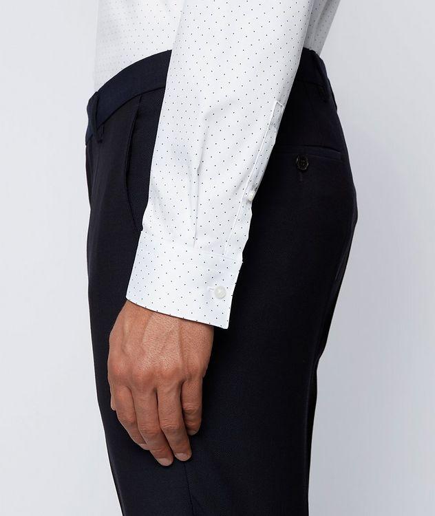 Slim-Fit Pindot Cotton Dress Shirt picture 5
