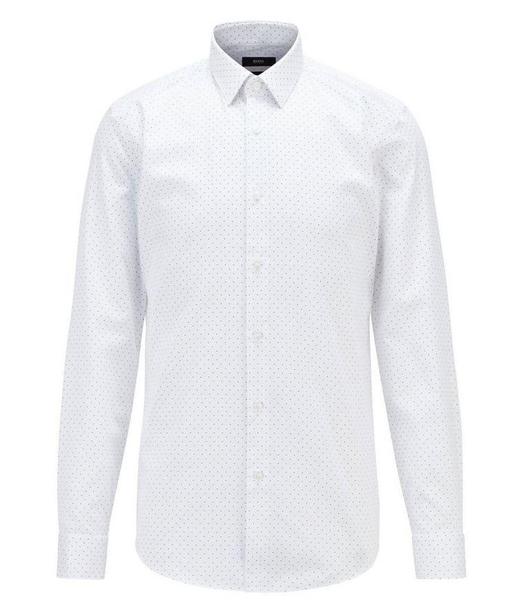 Slim-Fit Pindot Cotton Dress Shirt image 0