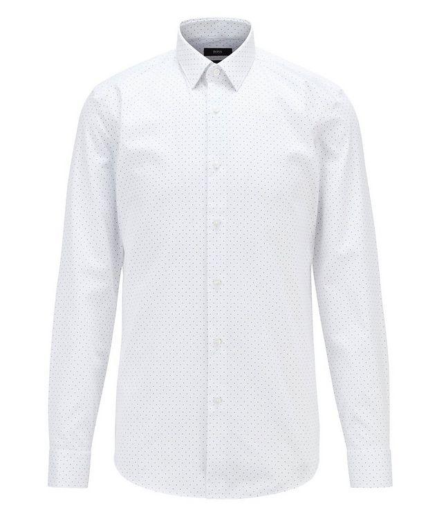 Slim-Fit Pindot Cotton Dress Shirt picture 1