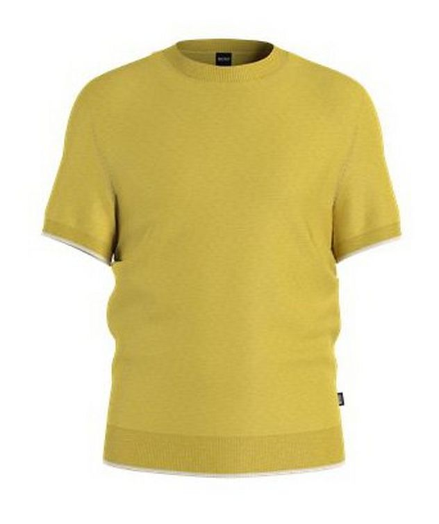 Persimo Short-sleeved Ramie-Cotton Sweater  picture 1