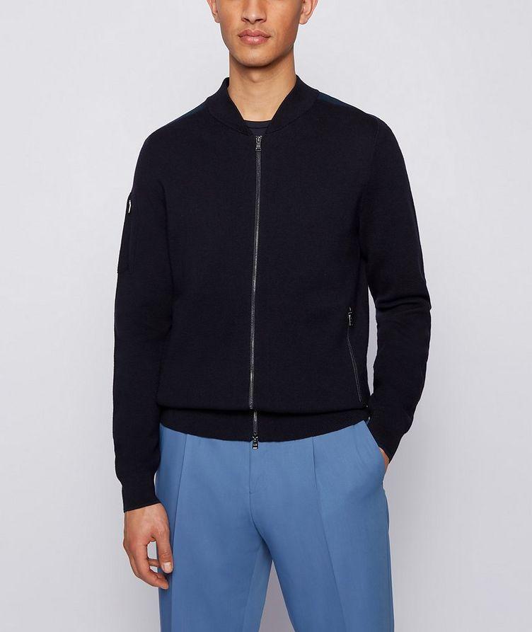 Cotton-Wool Zip-Up Cardigan image 1