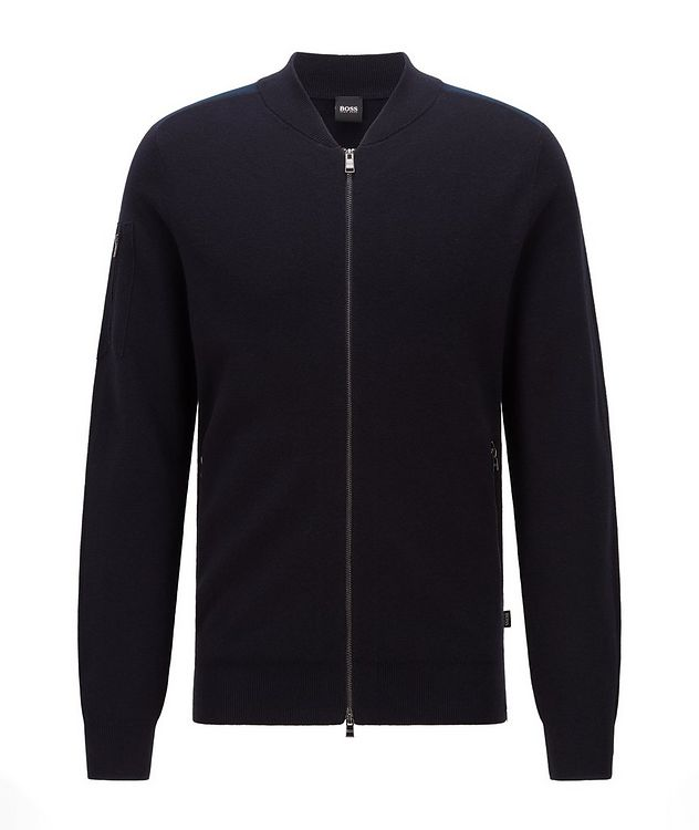 Cotton-Wool Zip-Up Cardigan picture 1