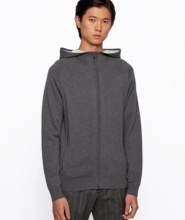 Paoli Wool, Cotton, Cashmere Hooded Sweatshirt picture 2