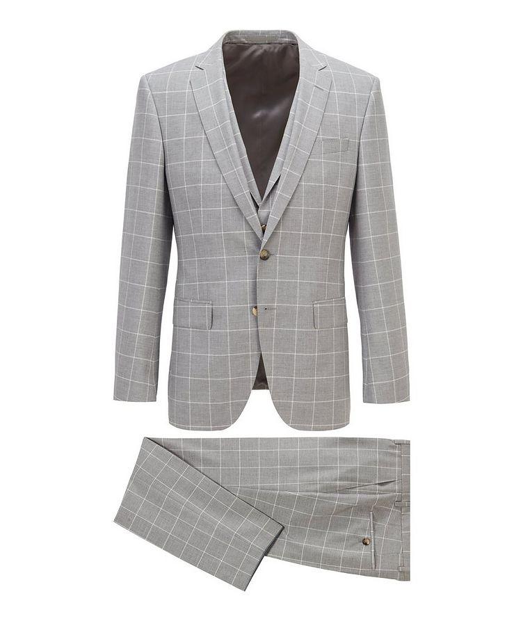 Huge6/Genius5 Slim-Fit Windowpane Checkered Suit image 0