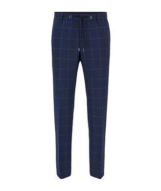 BOSS Bardon1 Slim-Fit Windowpane Dress Pants