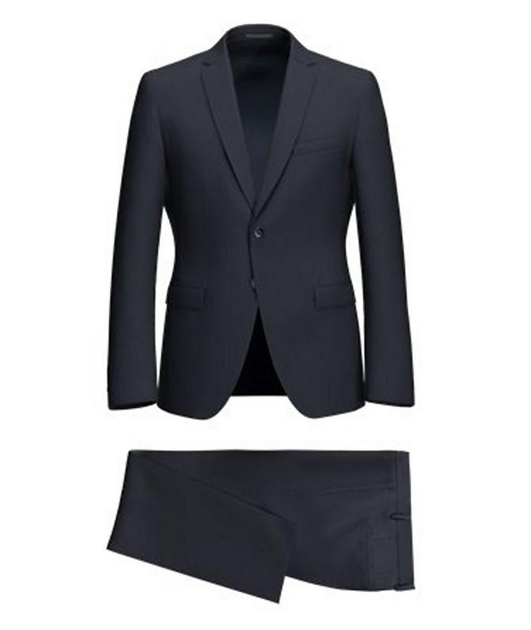 Reymond/Wenten Extra Slim-Fit Striped Wool Suit image 0