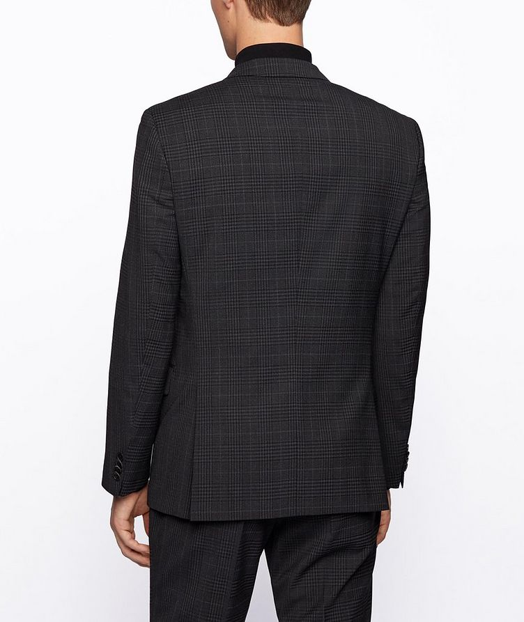 Slim-Fit Micro-Checked Stretch-Wool Sports Jacket image 2