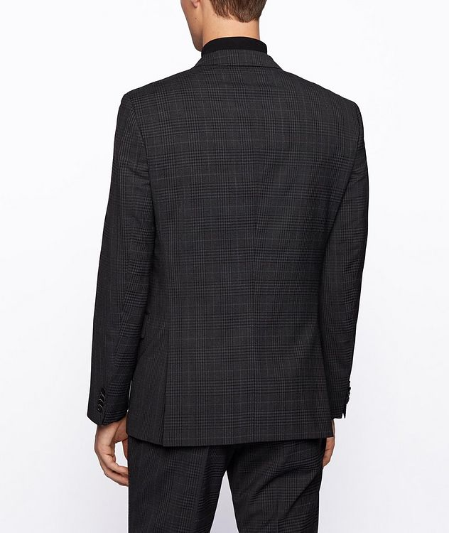 Slim-Fit Micro-Checked Stretch-Wool Sports Jacket picture 3