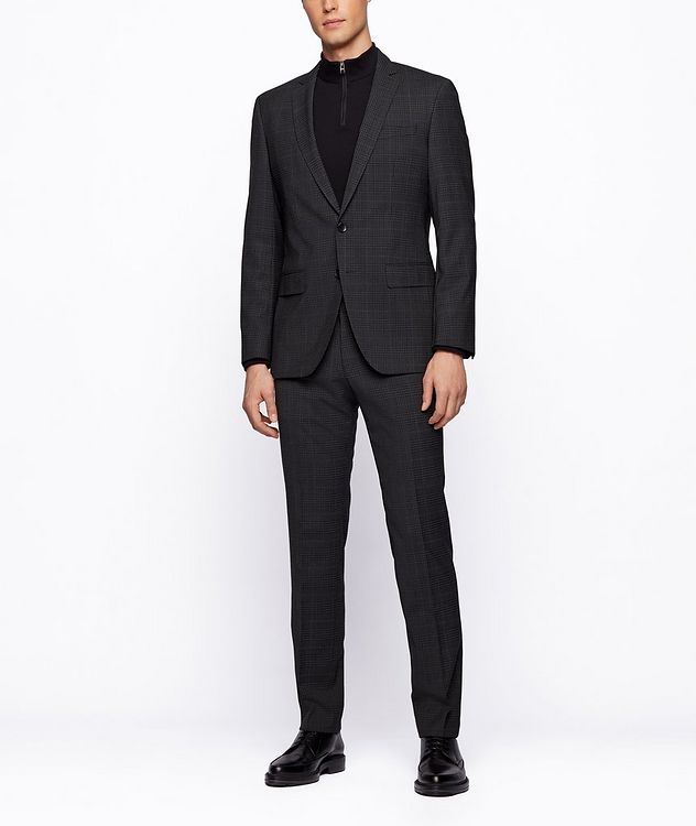 Slim-Fit Micro-Checked Stretch-Wool Sports Jacket picture 4