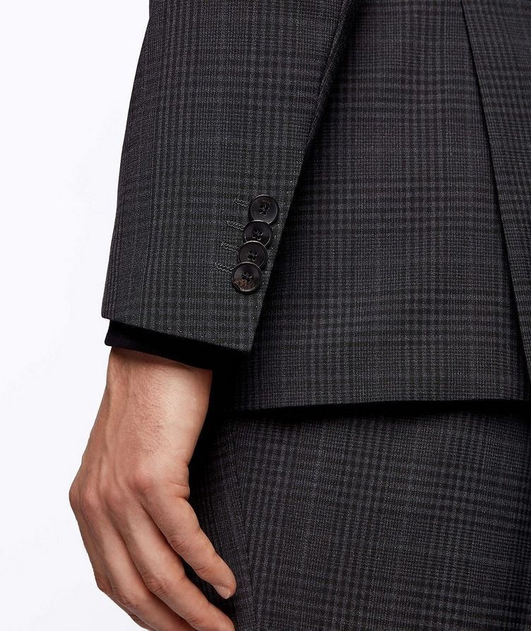 Slim-Fit Micro-Checked Stretch-Wool Sports Jacket image 5