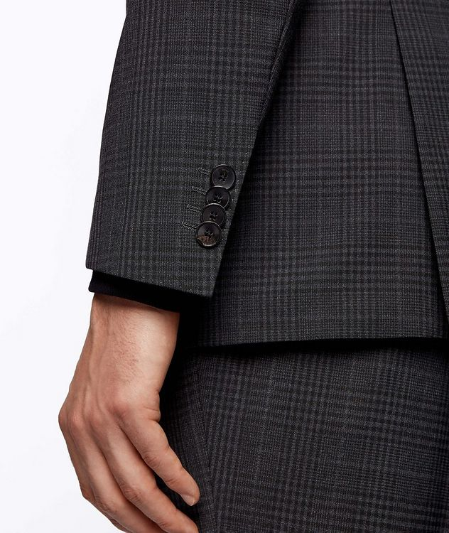Slim-Fit Micro-Checked Stretch-Wool Sports Jacket picture 6