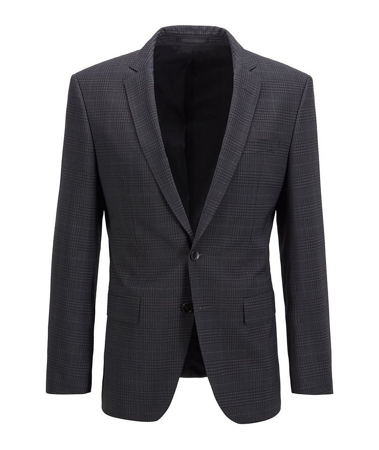 Slim-Fit Micro-Checked Stretch-Wool Sports Jacket image 0