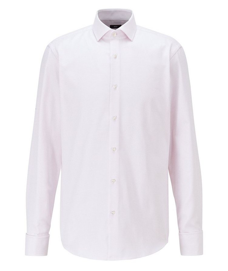 Contemporary Fit Microcheck Dress Shirt image 0