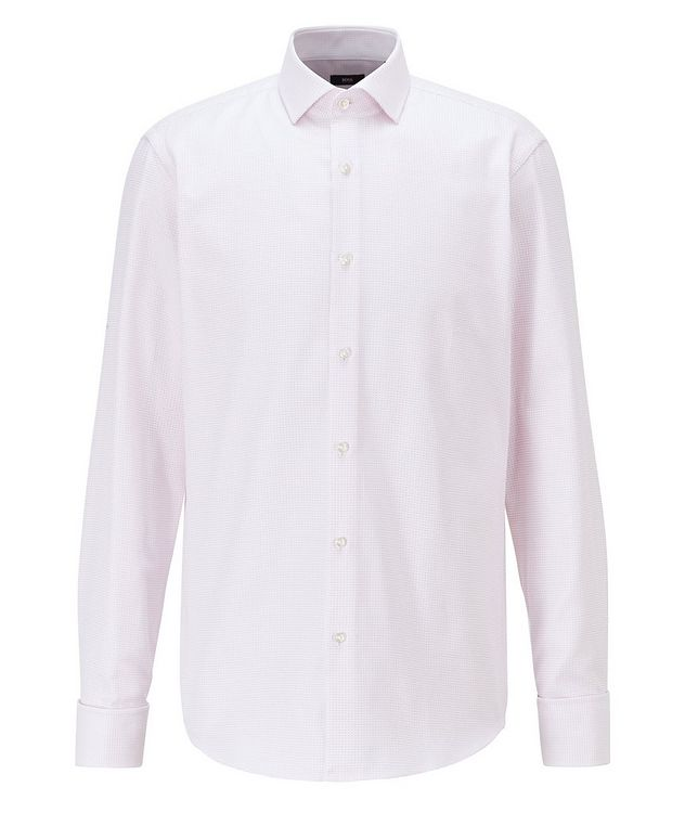 Contemporary Fit Microcheck Dress Shirt picture 1