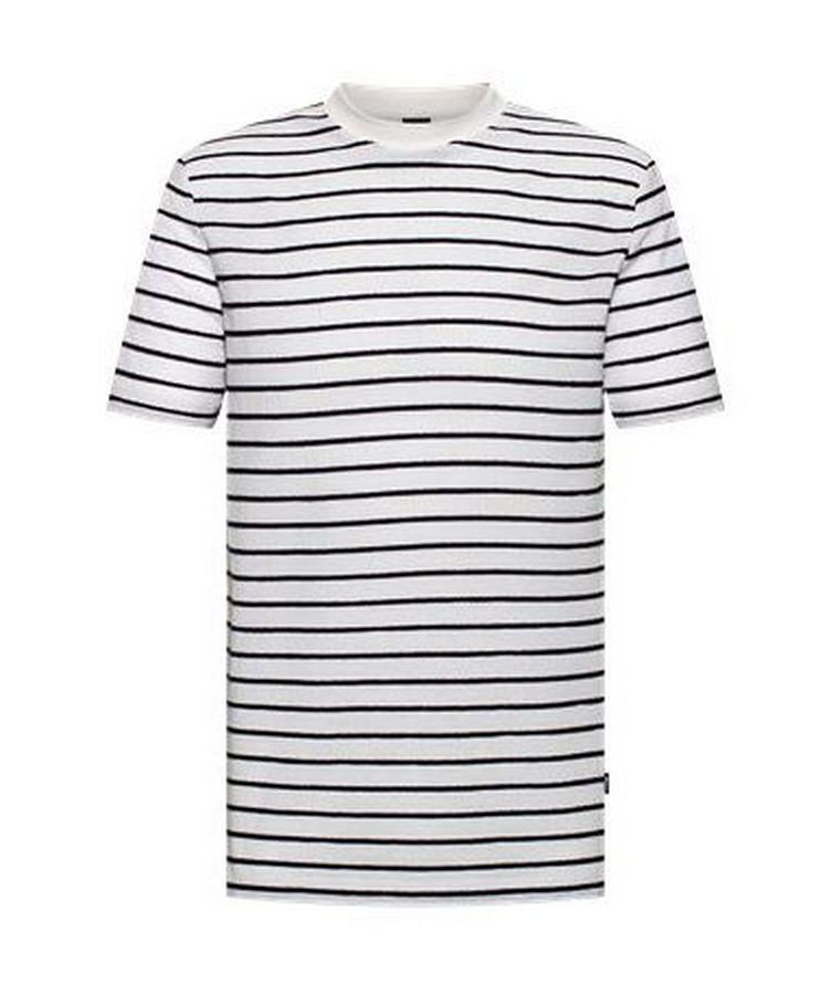 Tiburt Cotton-Linen Striped T-Shirt image 0