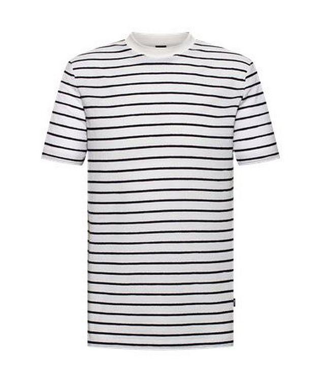 Tiburt Cotton-Linen Striped T-Shirt picture 1