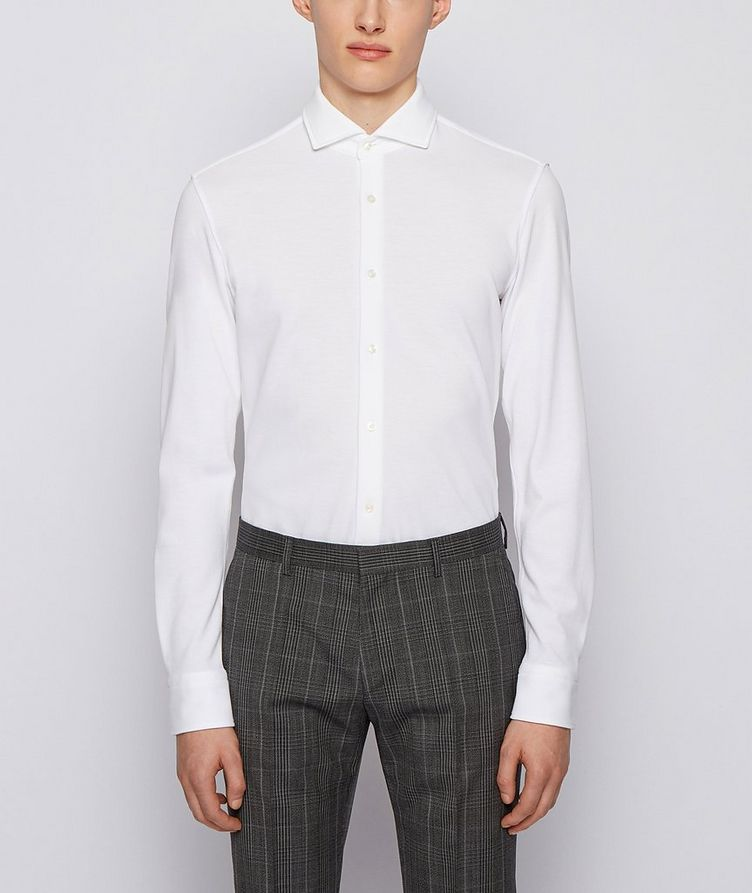Slim-Fit Jersey Cotton Dress Shirt image 1