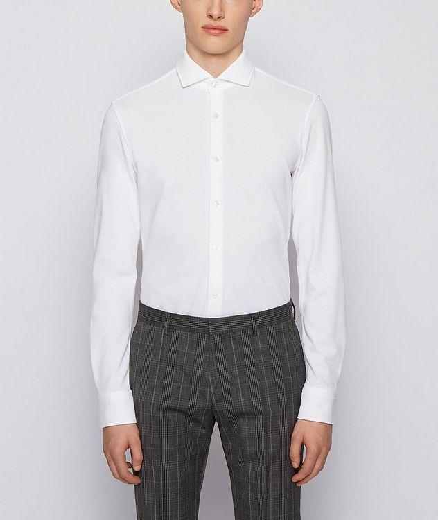 Slim-Fit Jersey Cotton Dress Shirt picture 2