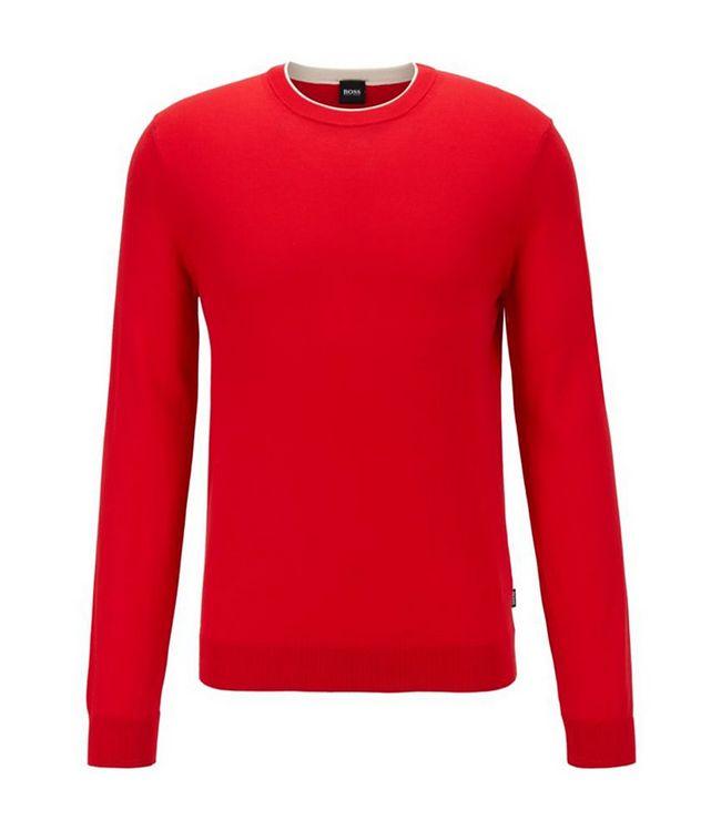 Fabello Slim Fit Cotton Sweater picture 1