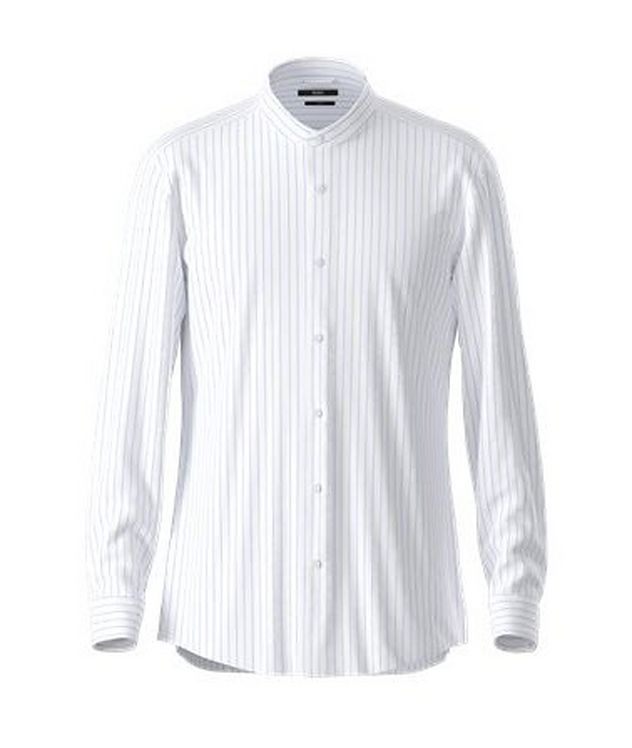 Jorris Slim-Fit Cotton-Linen Dress Shirt picture 1