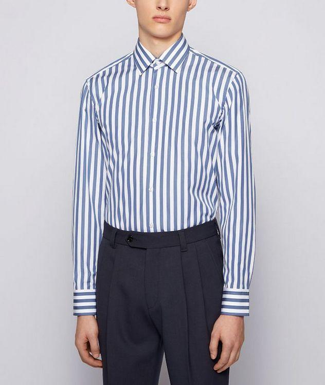 Jango Slim-Fit Striped Poplin Dress Shirt picture 2