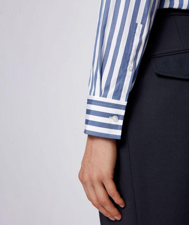 Jango Slim-Fit Striped Poplin Dress Shirt image 3
