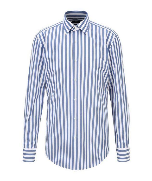 Jango Slim-Fit Striped Poplin Dress Shirt picture 1