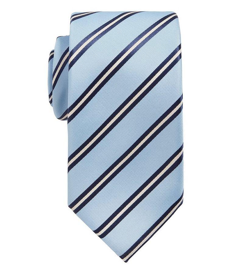 Striped Silk Tie image 0