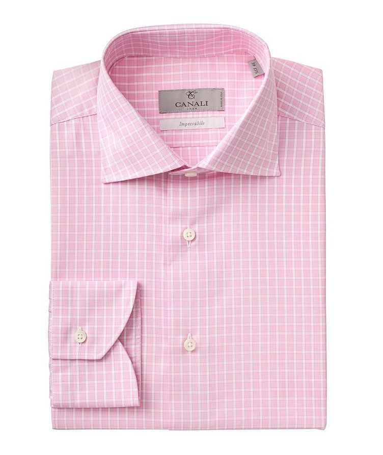 Contemporary-Fit Impeccabile Cotton Dress Shirt image 0