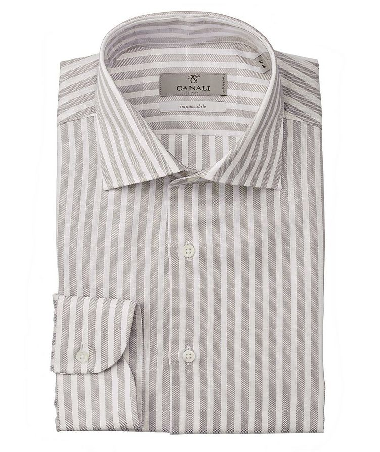 Slim-Fit Impeccabile Cotton-Linen Dress Shirt image 0